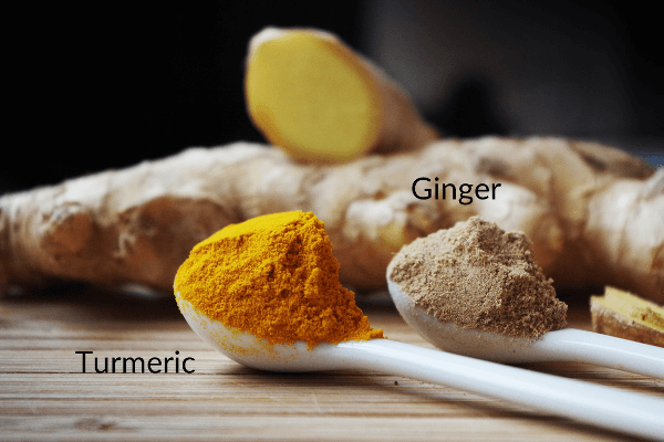 Turmeric and ginger powders