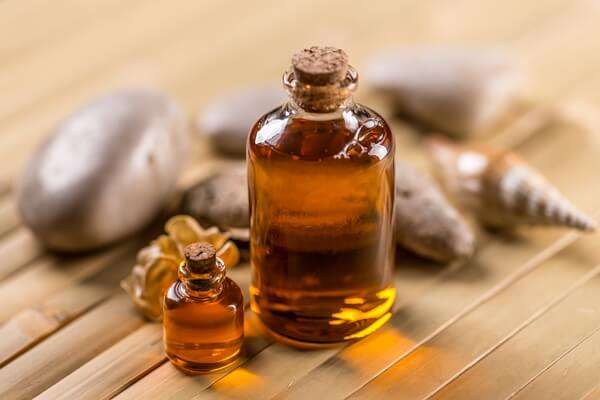 Big and small bottle of castor oil for household use
